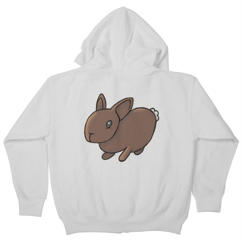 Rabbit Kids Zip-Up Hoody by dylanreed's Artist Shop
