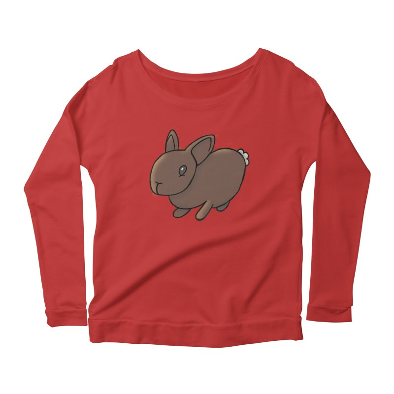 Rabbit Women's Longsleeve Scoopneck  by dylanreed's Artist Shop