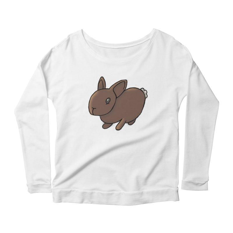 Rabbit Women's Scoop Neck Longsleeve T-Shirt by dylanreed's Artist Shop