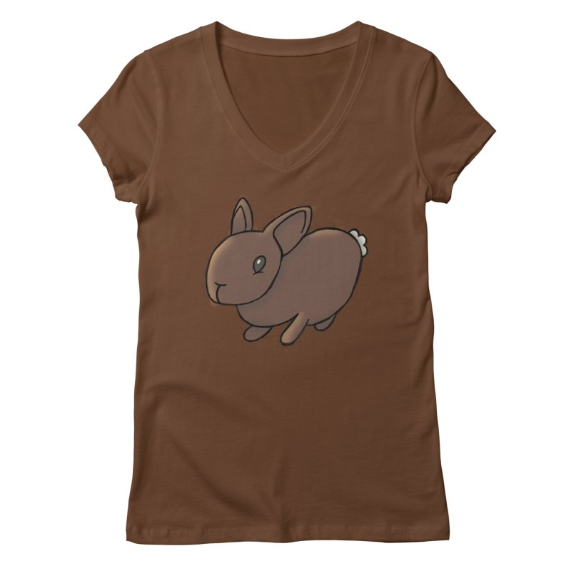 Rabbit Women's V-Neck by dylanreed's Artist Shop