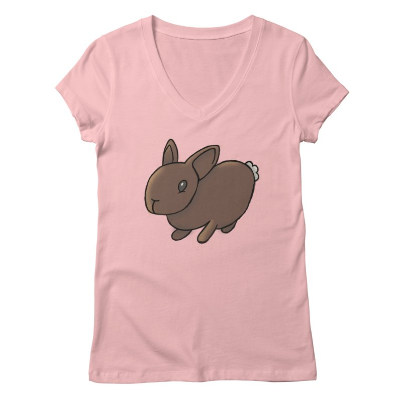 Rabbit Women's Regular V-Neck by dylanreed's Artist Shop