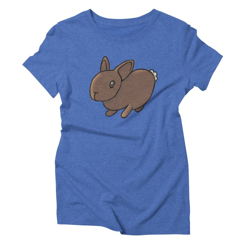 Rabbit Women's Triblend T-shirt by dylanreed's Artist Shop