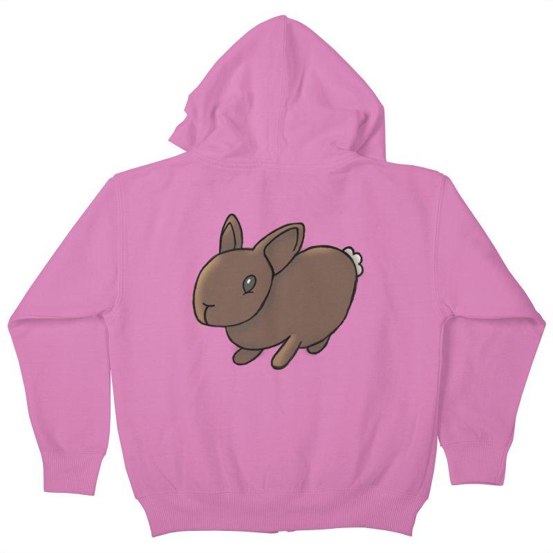 Rabbit Kids Zip-Up Hoody by dylanreed's Artist Shop