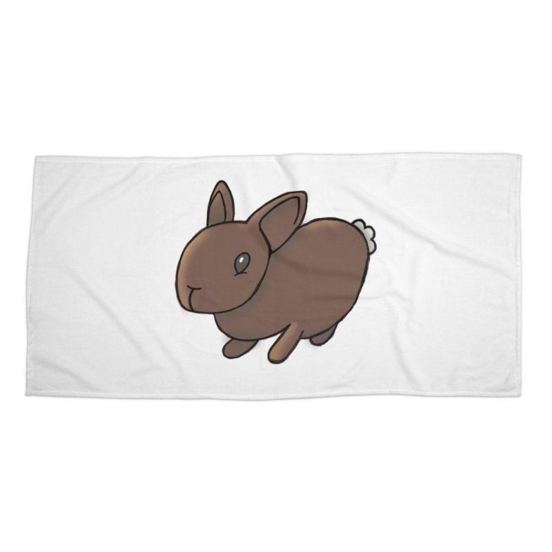 Rabbit Accessories Beach Towel by dylanreed's Artist Shop