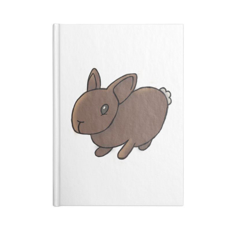 Rabbit Accessories Lined Journal Notebook by dylanreed's Artist Shop