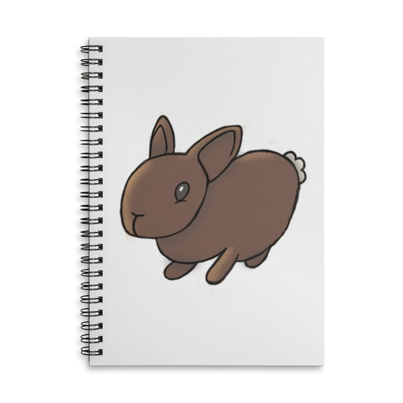 Rabbit Accessories Lined Spiral Notebook by dylanreed's Artist Shop