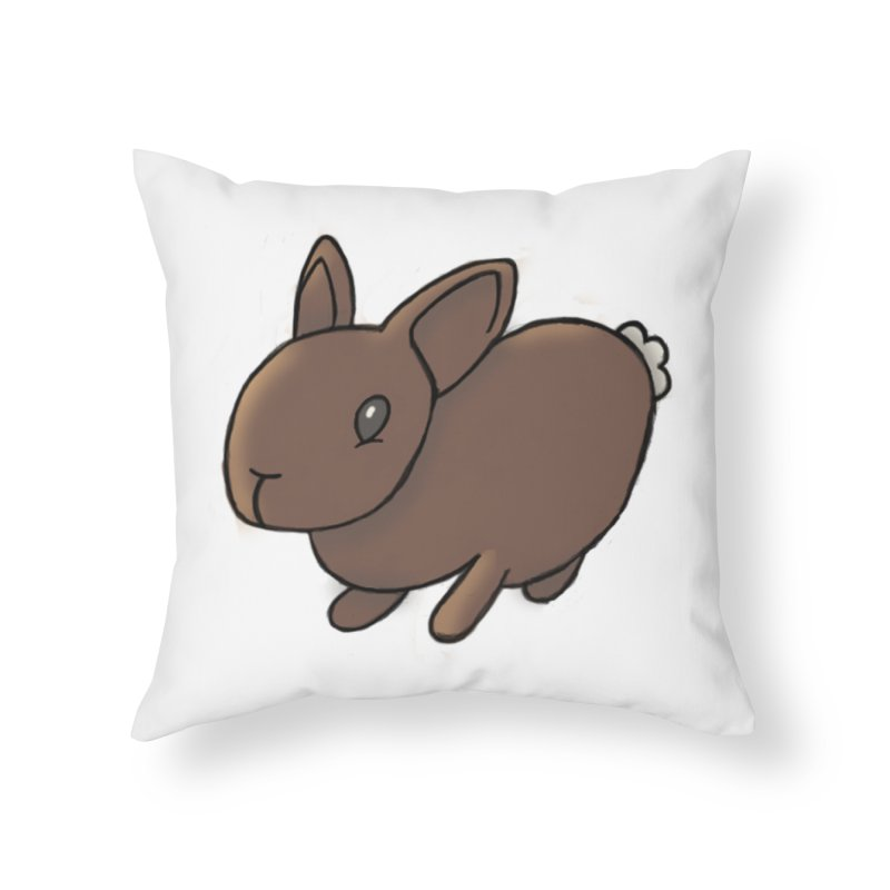 Rabbit Home Throw Pillow by dylanreed's Artist Shop