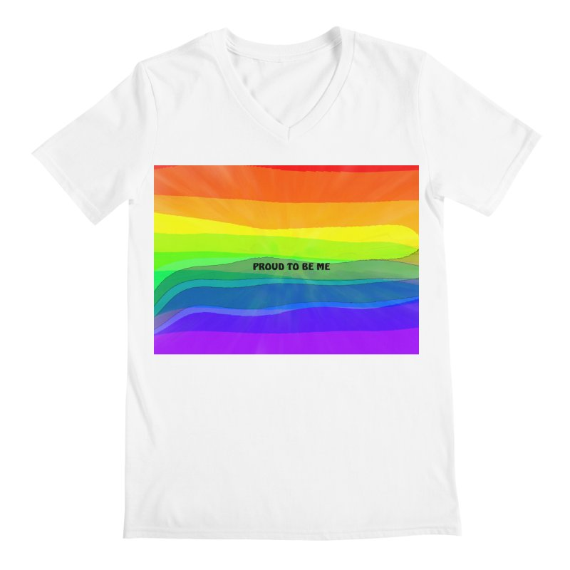 Proud To Be Me Men's V-Neck by Korok Studios Artist Shop