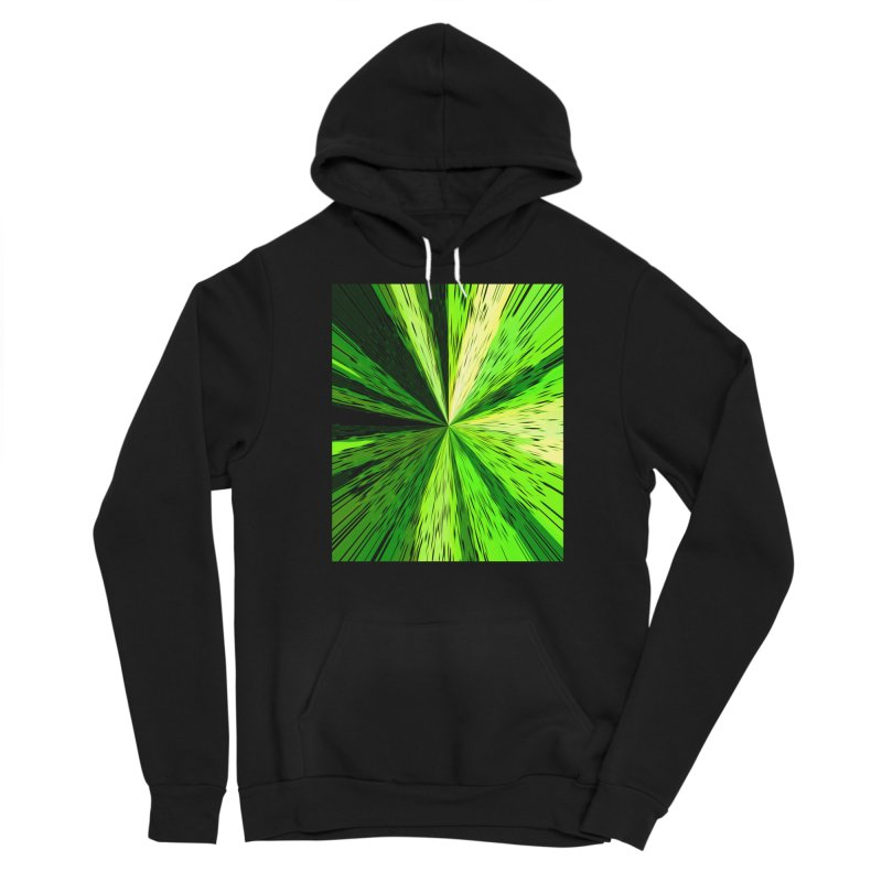 Green Zoom Green Men's Pullover Hoody by Korok Studios Artist Shop