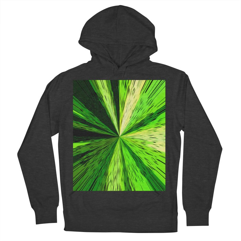 Green Zoom Green Women's French Terry Pullover Hoody by Korok Studios Artist Shop
