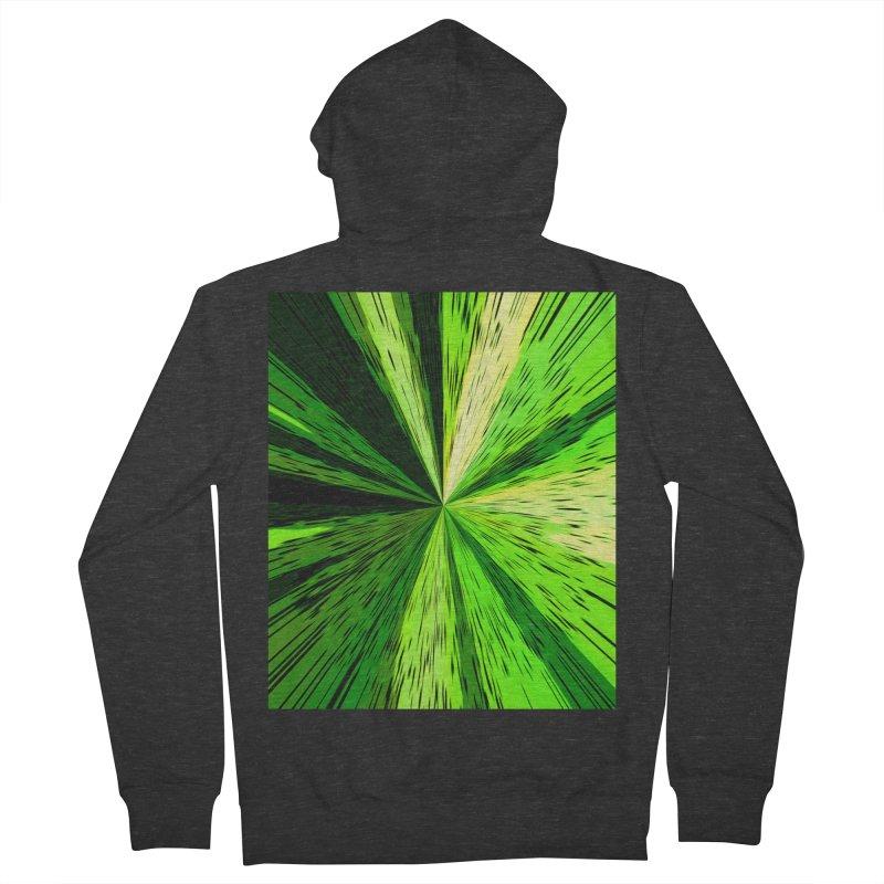 Green Zoom Green Men's Zip-Up Hoody by Korok Studios Artist Shop