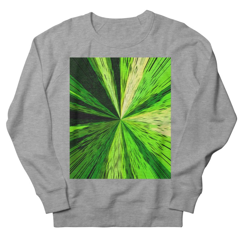 Green Zoom Green Men's French Terry Sweatshirt by Korok Studios Artist Shop
