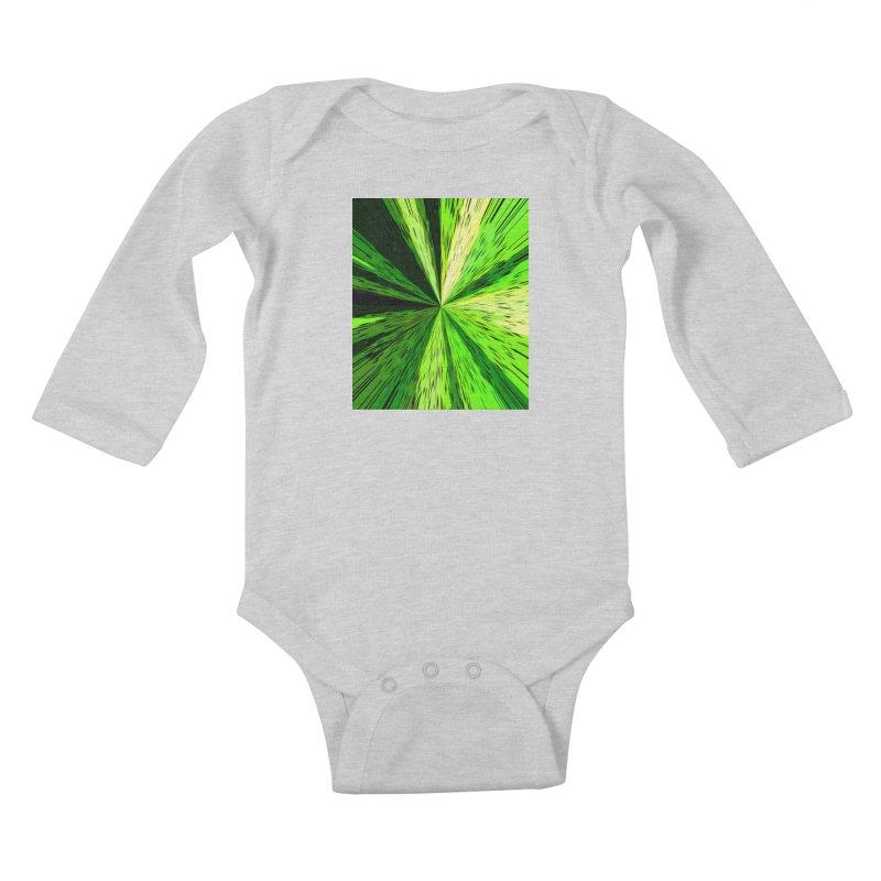 Green Zoom Green Kids Baby Longsleeve Bodysuit by Korok Studios Artist Shop