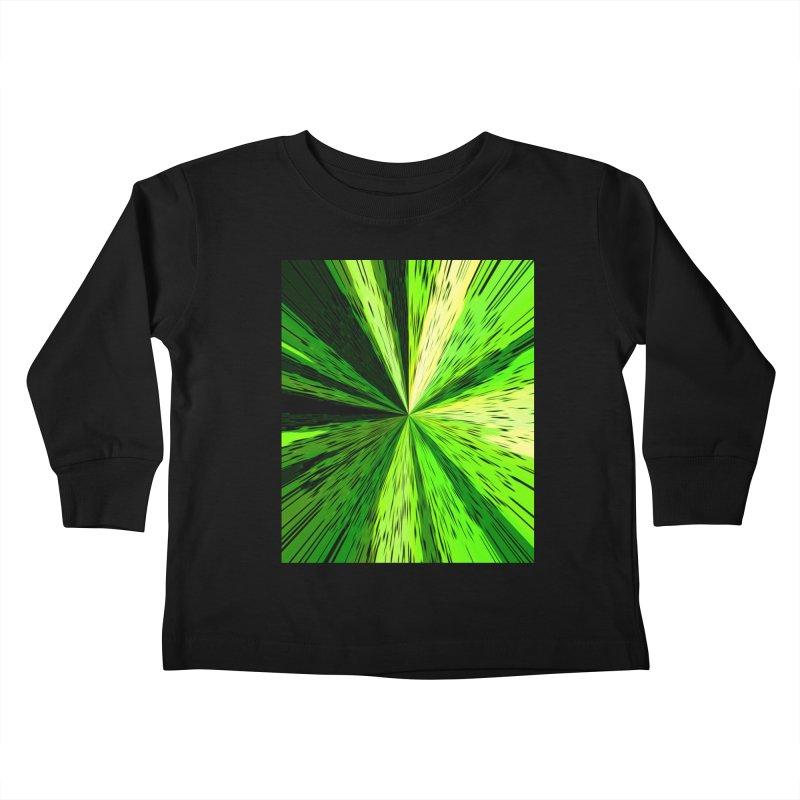 Green Zoom Green Kids Toddler Longsleeve T-Shirt by Korok Studios Artist Shop