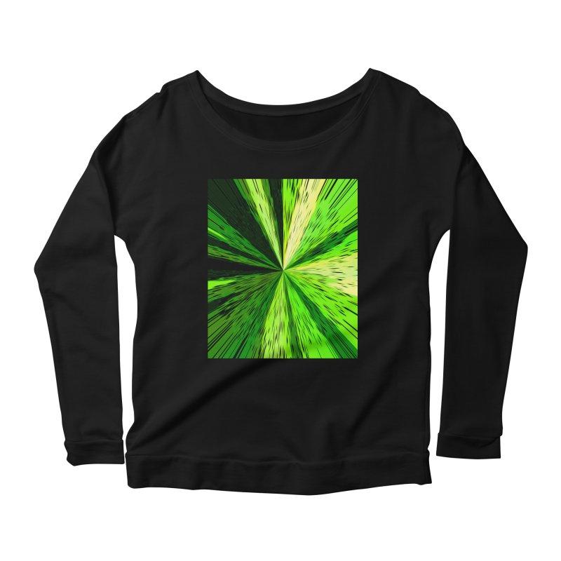 Green Zoom Green Women's Scoop Neck Longsleeve T-Shirt by Korok Studios Artist Shop