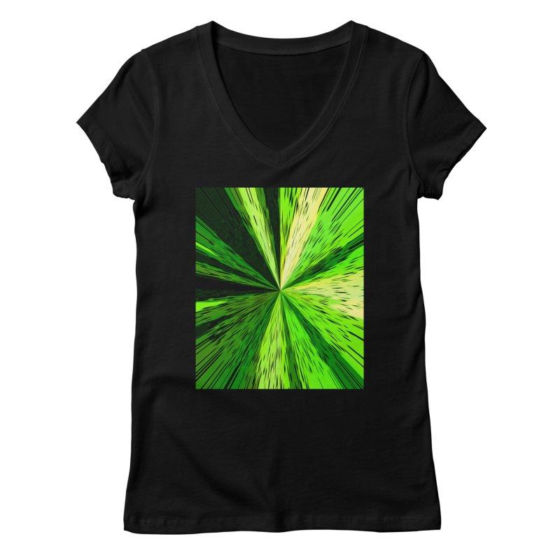 Green Zoom Green Women's V-Neck by Korok Studios Artist Shop