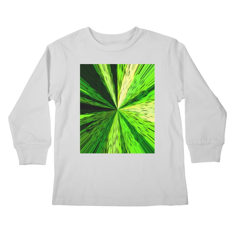 Green Zoom Green Kids Longsleeve T-Shirt by Korok Studios Artist Shop