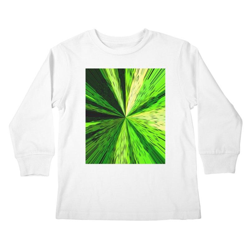 Green Zoom Green Kids Longsleeve T-Shirt by Korok Studios Artist Shop