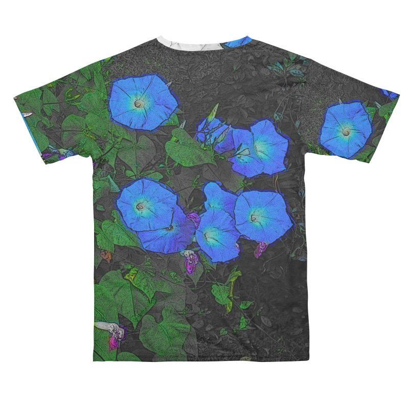 Morning Glories 3825 Men's Cut & Sew by Korok Studios Artist Shop