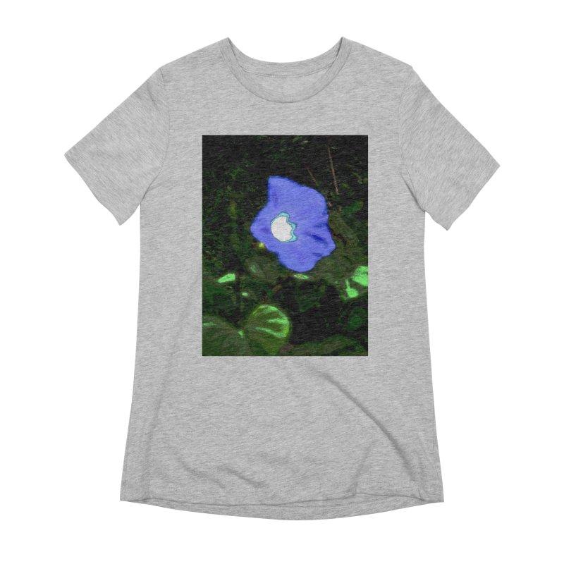 Morning Glory Abstract Women's T-Shirt by Korok Studios Artist Shop