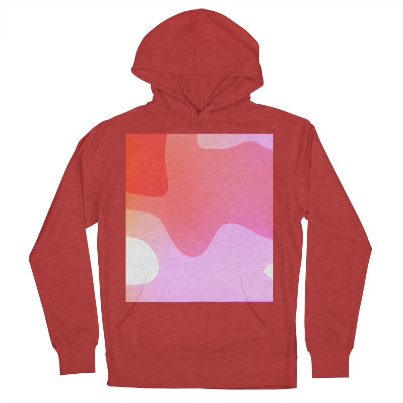 Red Calm 23 Men's French Terry Pullover Hoody by Korok Studios Artist Shop