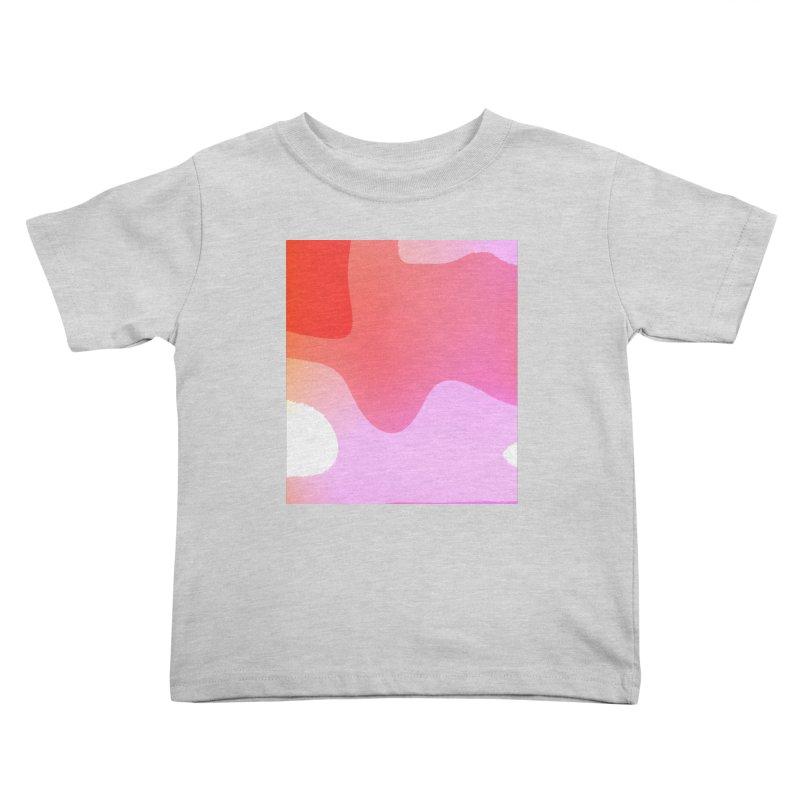 Red Calm 23 Kids Toddler T-Shirt by Korok Studios Artist Shop