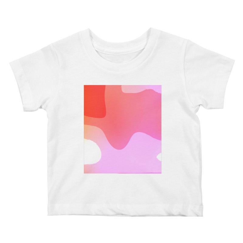 Red Calm 23 Kids Baby T-Shirt by Korok Studios Artist Shop