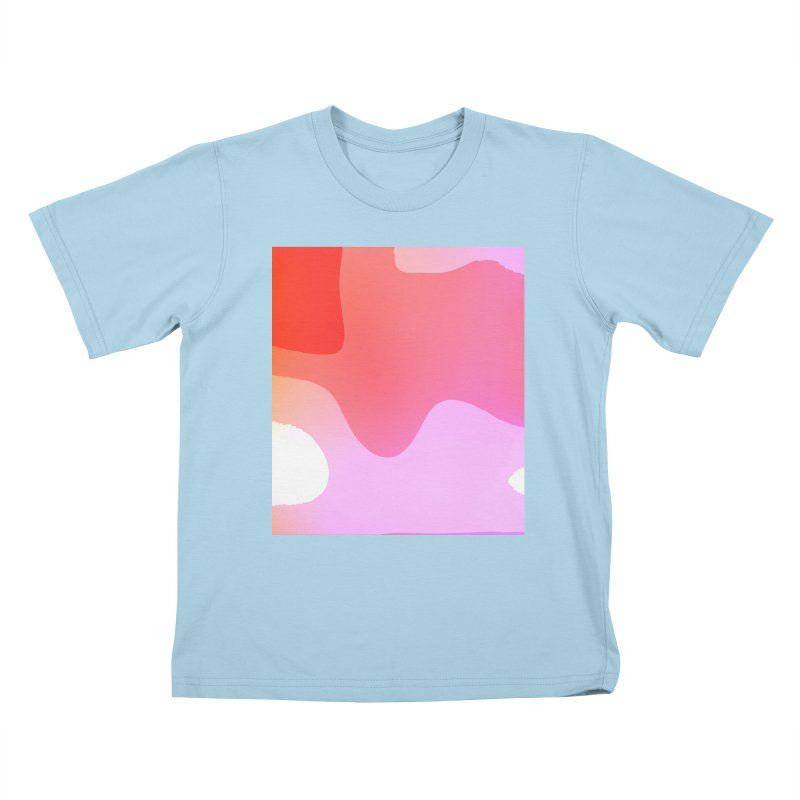 Red Calm 23 Kids T-Shirt by Korok Studios Artist Shop