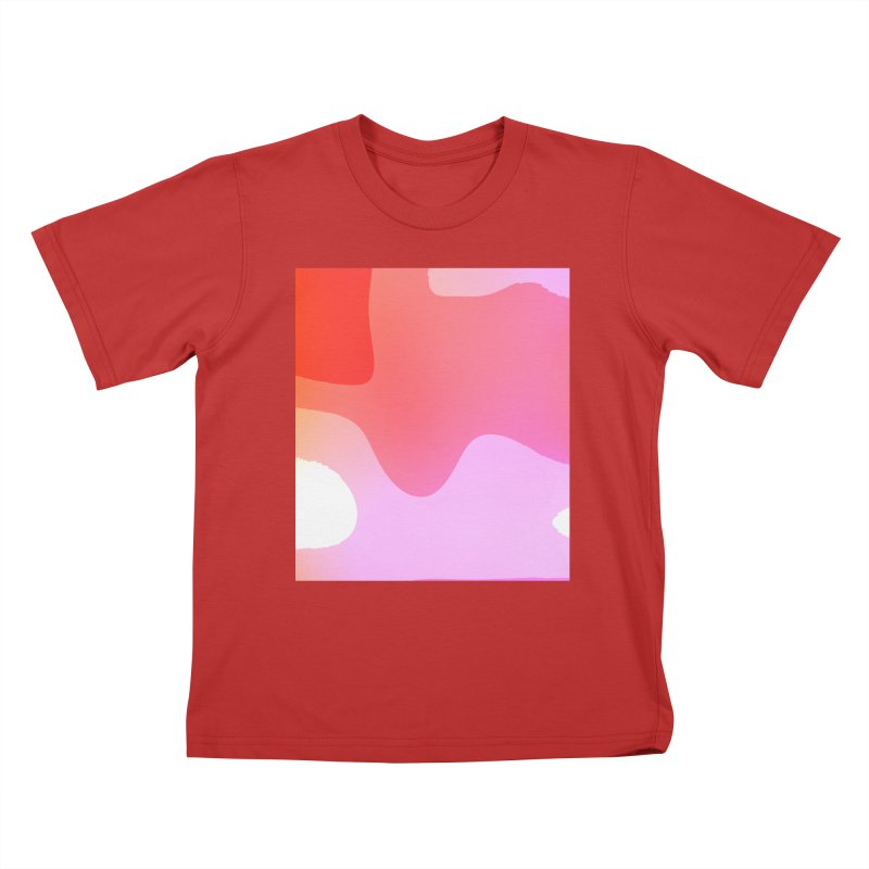 Red Calm 23 Kids T-Shirt by Korok Studios Artist Shop