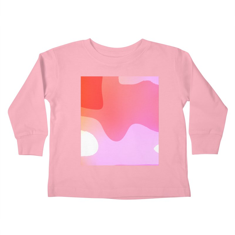 Red Calm 23 Kids Toddler Longsleeve T-Shirt by Korok Studios Artist Shop