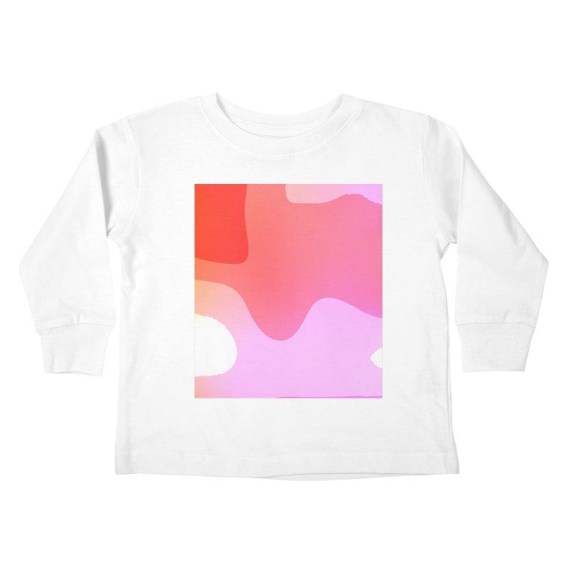Red Calm 23 Kids Toddler Longsleeve T-Shirt by Korok Studios Artist Shop