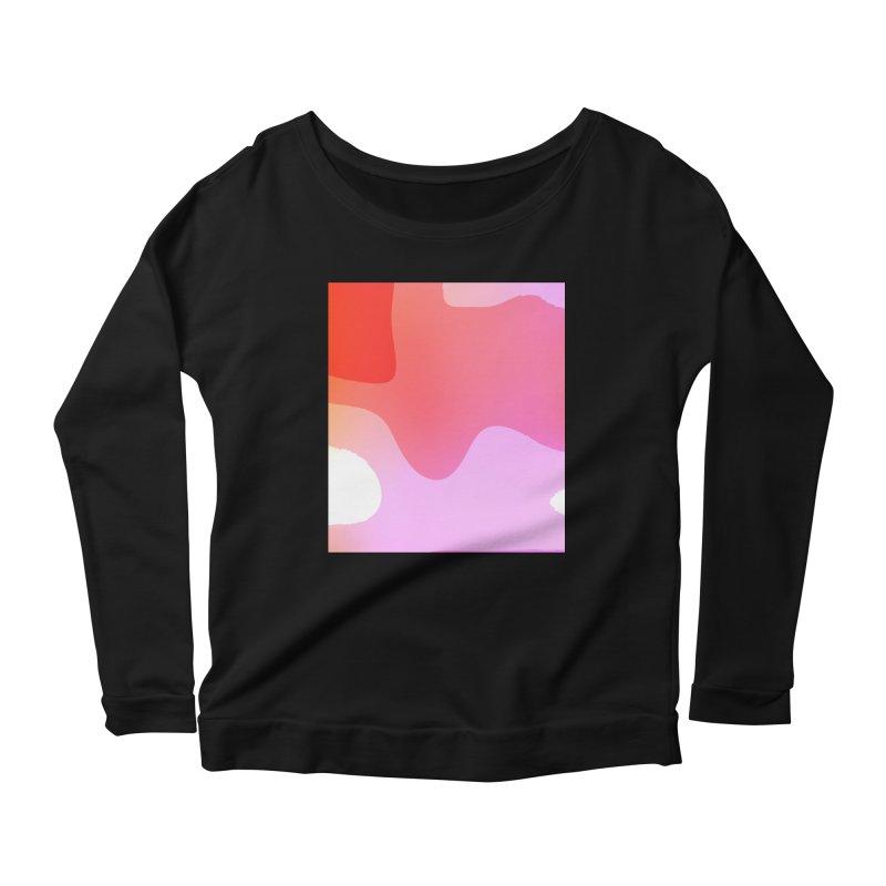 Red Calm 23 Women's Scoop Neck Longsleeve T-Shirt by Korok Studios Artist Shop