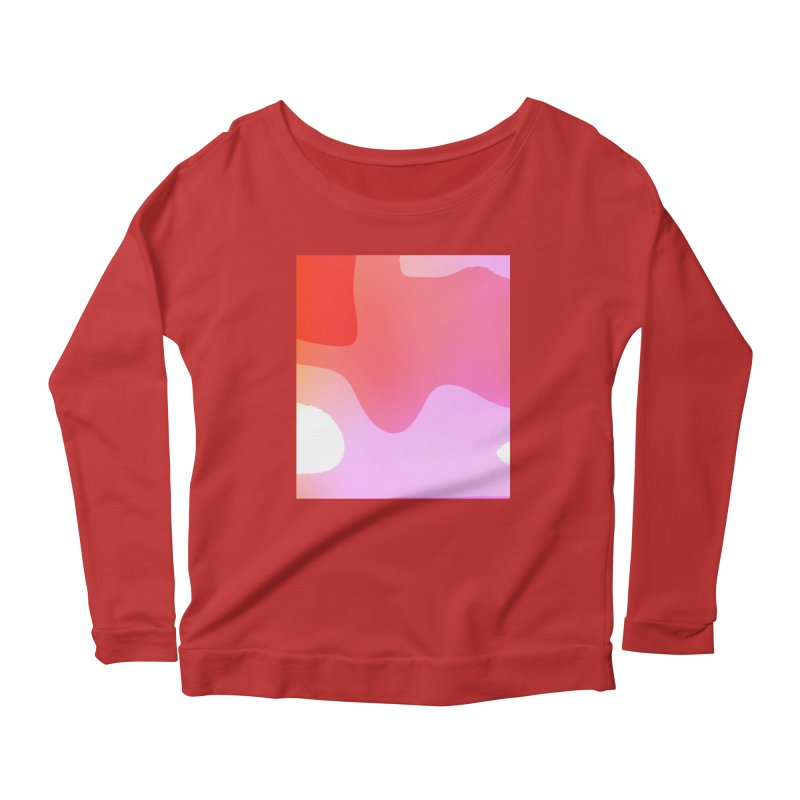 Red Calm 23 Women's Longsleeve Scoopneck  by Korok Studios Artist Shop