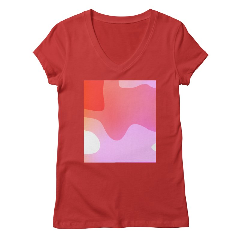Red Calm 23 Women's Regular V-Neck by Korok Studios Artist Shop