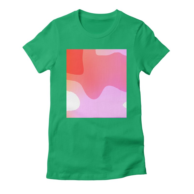 Red Calm 23 Women's Fitted T-Shirt by Korok Studios Artist Shop
