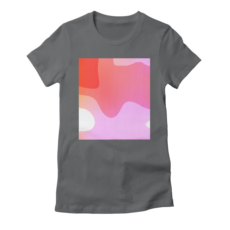 Red Calm 23 Women's Fitted T-Shirt by Korok Studios Artist Shop