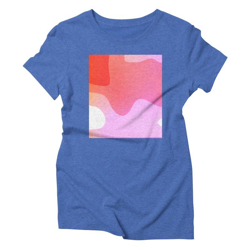Red Calm 23 Women's Triblend T-Shirt by Korok Studios Artist Shop