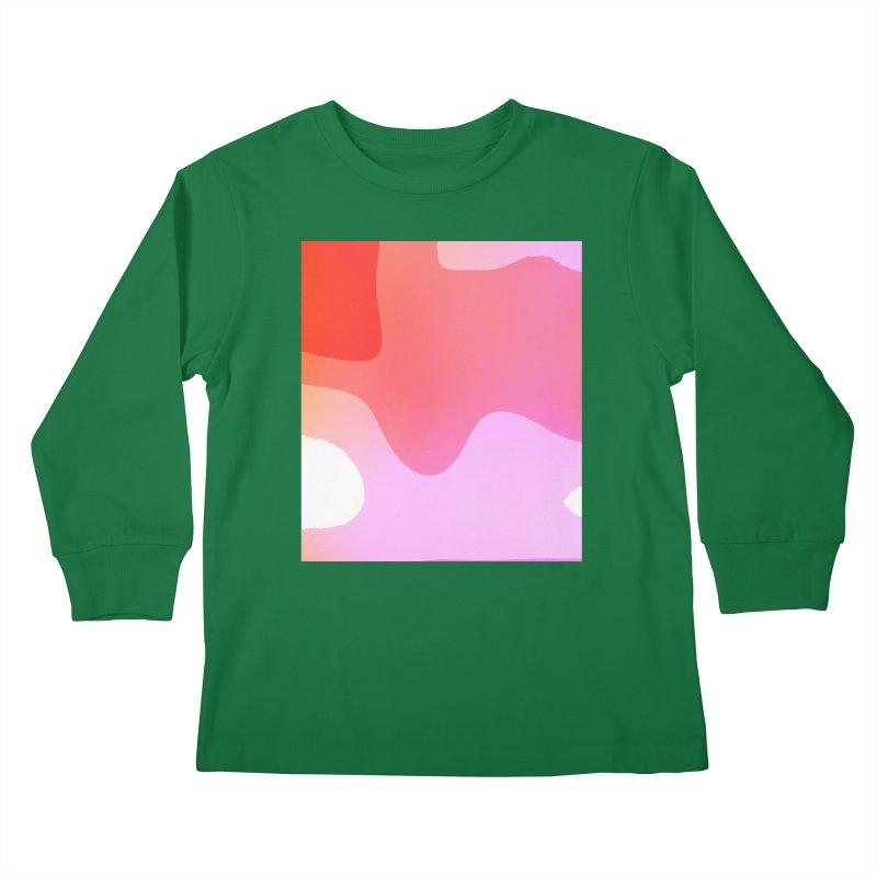 Red Calm 23 Kids Longsleeve T-Shirt by Korok Studios Artist Shop