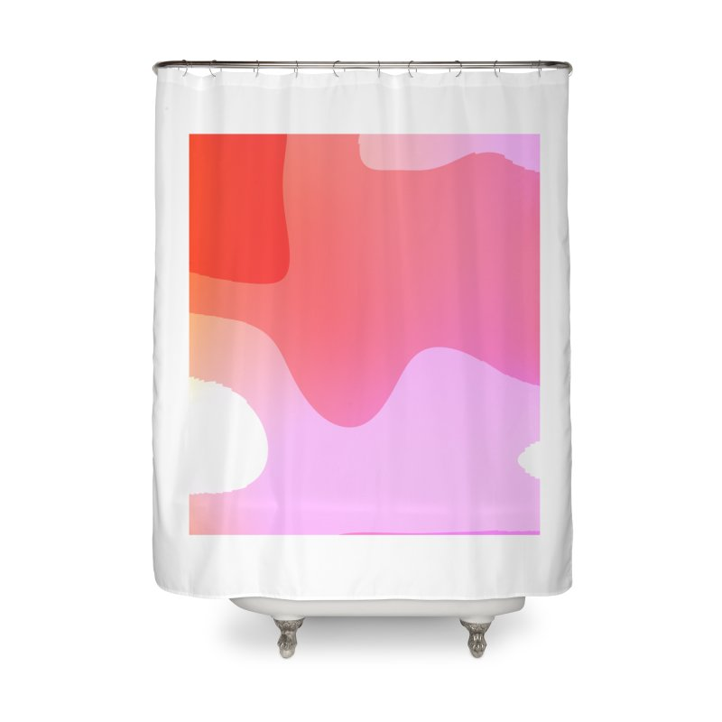 Red Calm 23 Home Shower Curtain by Korok Studios Artist Shop