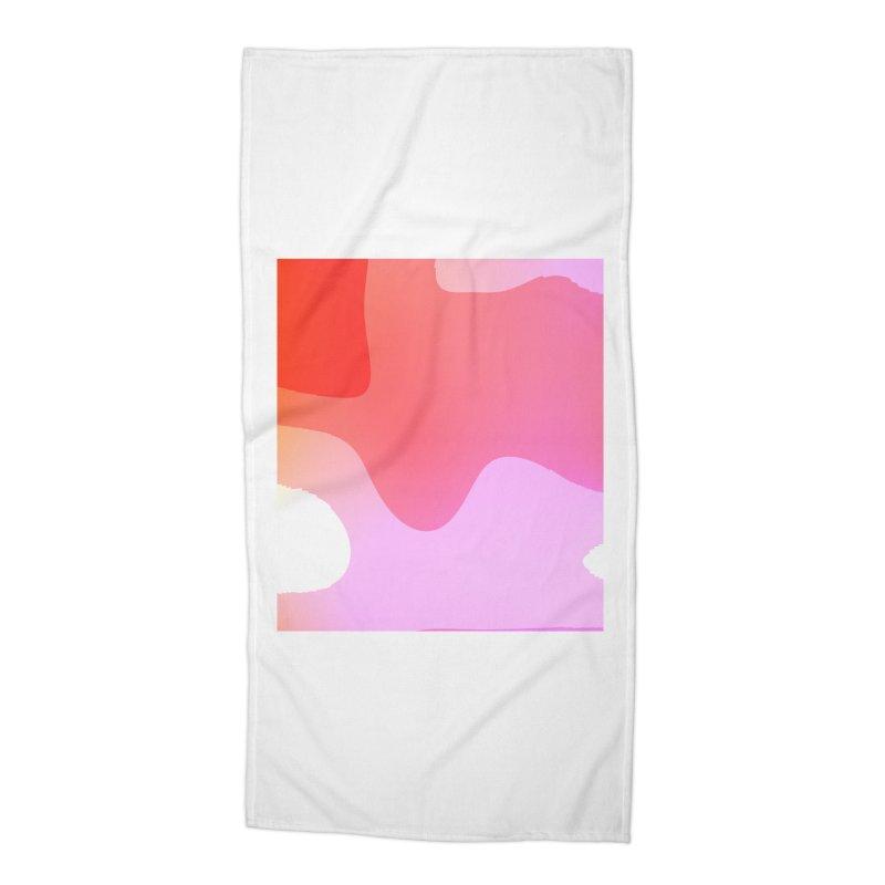 Red Calm 23 Accessories Beach Towel by Korok Studios Artist Shop