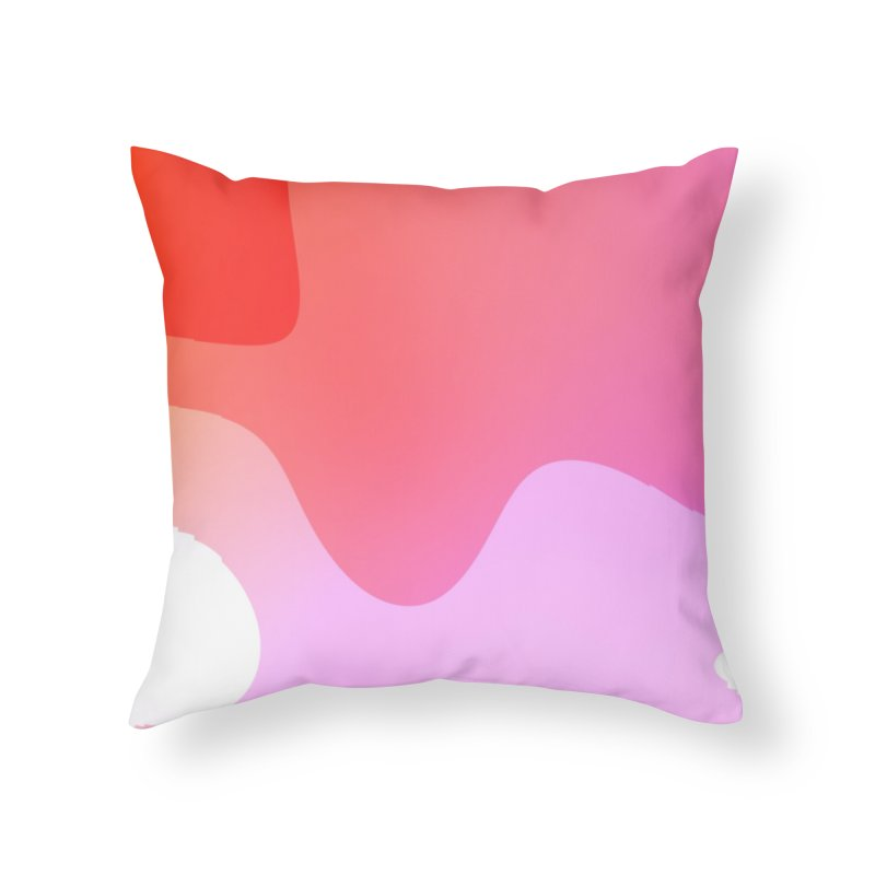 Red Calm 23 Home Throw Pillow by Korok Studios Artist Shop