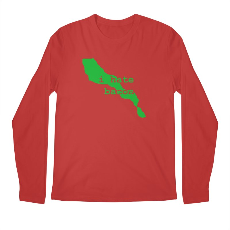 I Hate Bacon Men's Longsleeve T-Shirt by Korok Studios Artist Shop