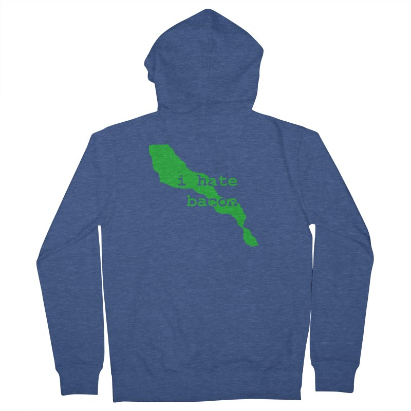 I Hate Bacon Men's Zip-Up Hoody by Korok Studios Artist Shop