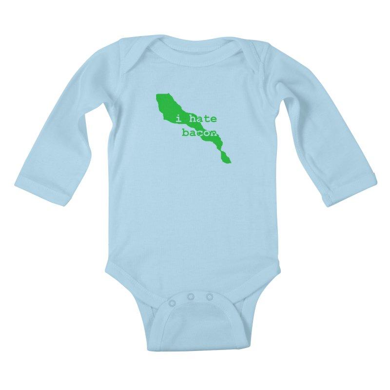 I Hate Bacon Kids Baby Longsleeve Bodysuit by Korok Studios Artist Shop