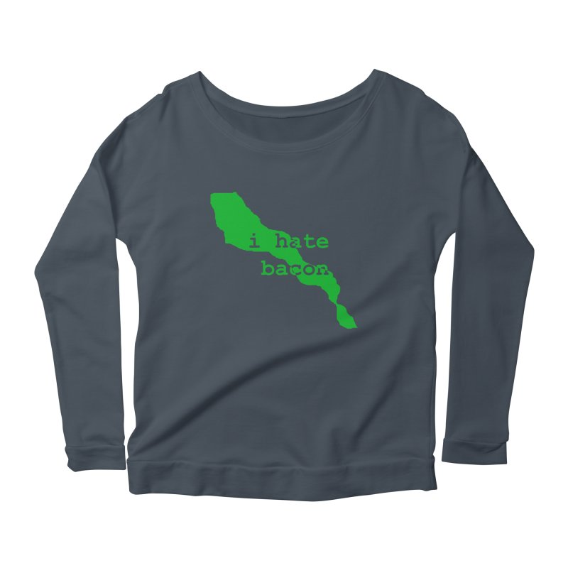 I Hate Bacon Women's Longsleeve T-Shirt by Korok Studios Artist Shop
