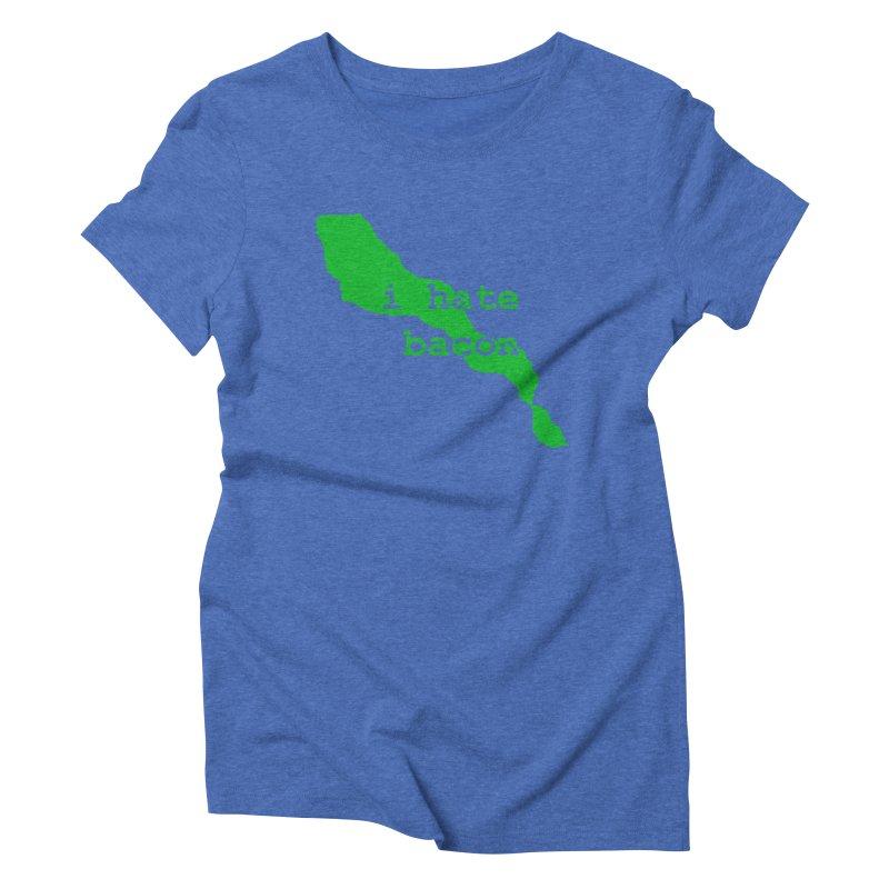 I Hate Bacon Women's T-Shirt by Korok Studios Artist Shop
