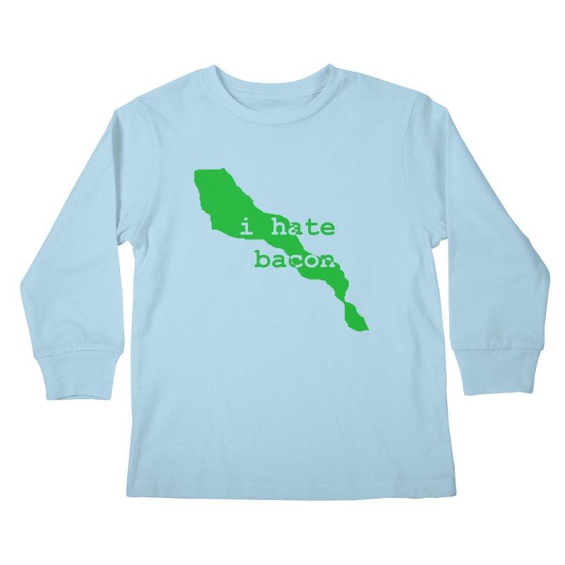 I Hate Bacon Kids Longsleeve T-Shirt by Korok Studios Artist Shop