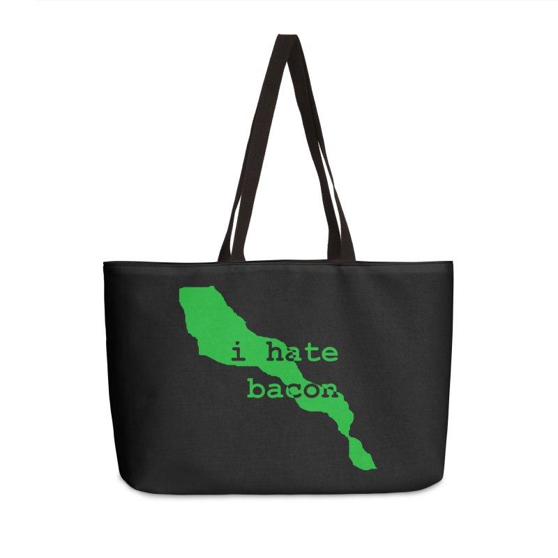 I Hate Bacon Accessories Weekender Bag Bag by Korok Studios Artist Shop