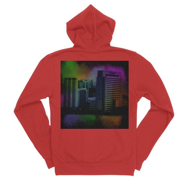 Dark City 4981 Women's Zip-Up Hoody by Korok Studios Artist Shop