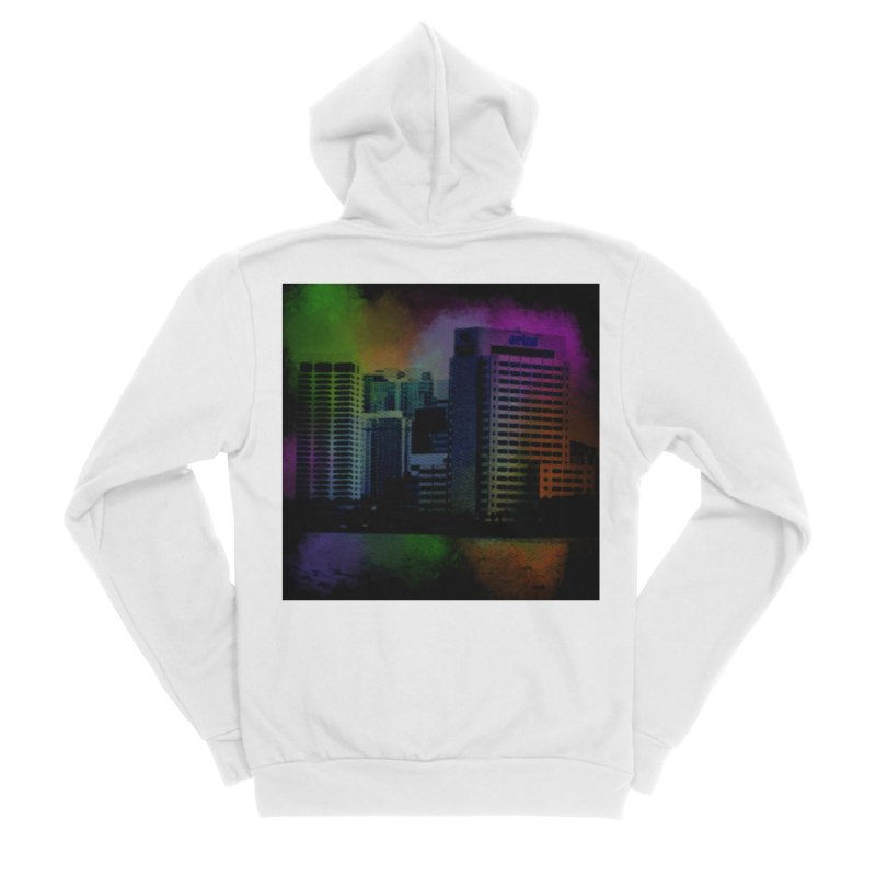 Dark City 4981 Men's Sponge Fleece Zip-Up Hoody by Korok Studios Artist Shop